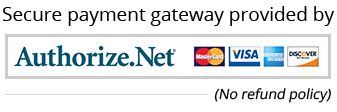 We accept authorize.net, MaestroCard, Visa, AmericanExpress and Discover